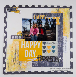 Mixed Media Scrapbook Page