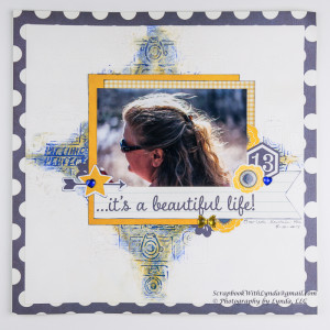 Gelato and Modeling Paste Scrapbook Layout