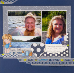 Using Washi Tape on a Scrapbook Layout