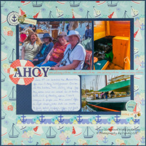 Nautical Bliss Scrapbook Layout