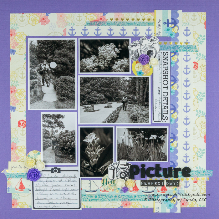 Black and White photos on a scrapbook layout.