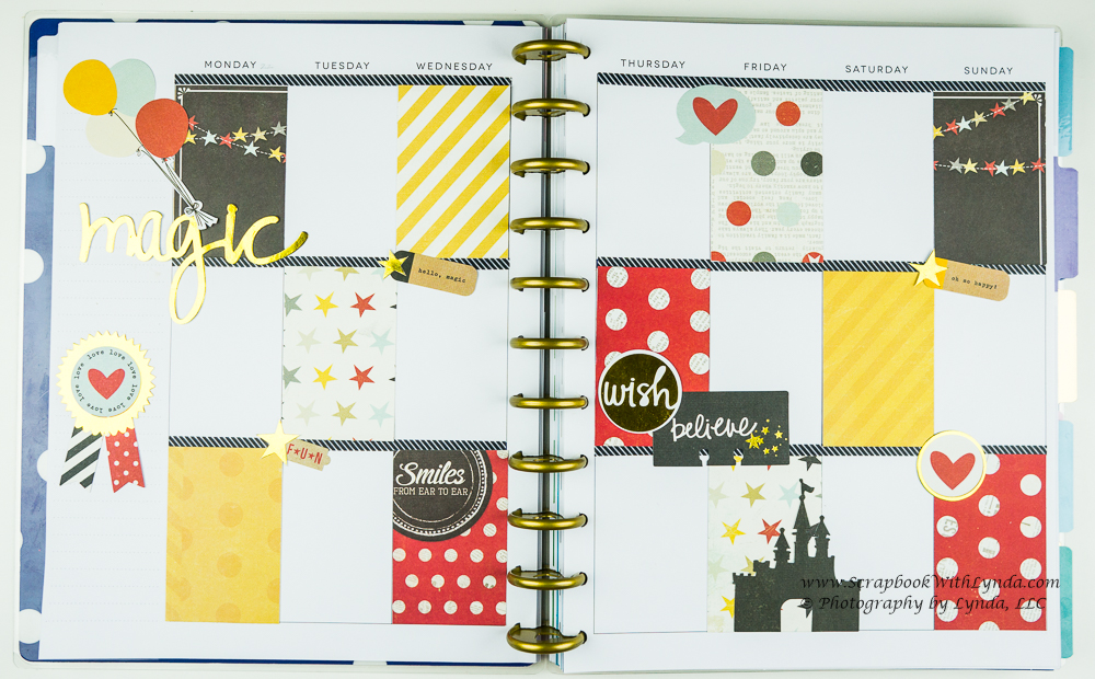 Using scrapbook paper in a planner