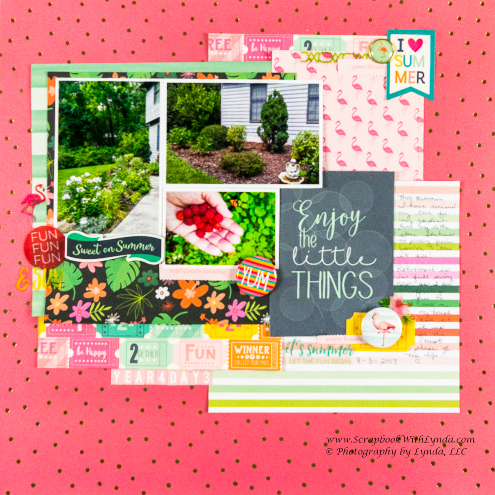 Scrapbook Layout Title Using Pocket Card Scrapbook With Lynda