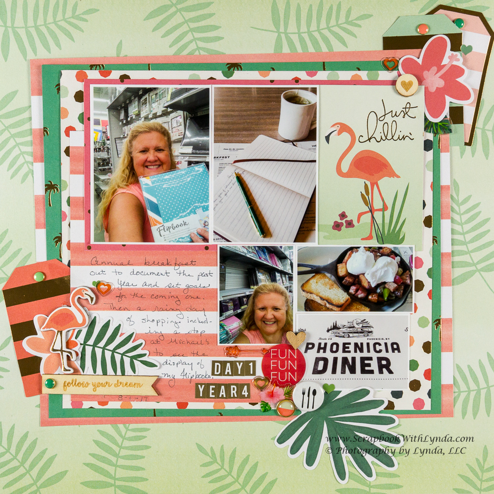 Scrapbook Layout Inspiration From Pocket Card Scrapbook With Lynda