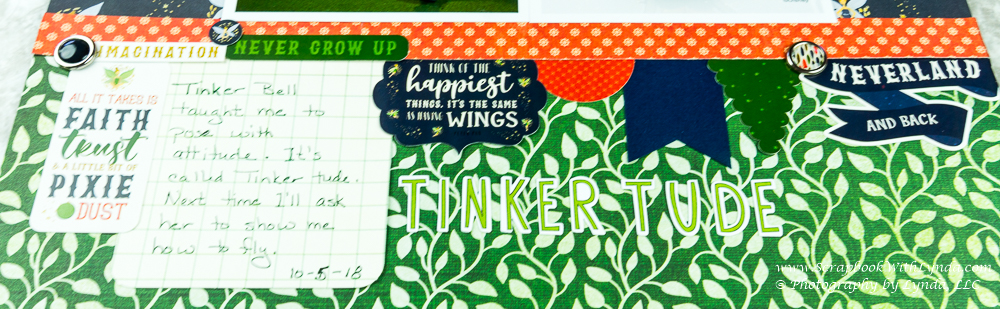 Tinker Bell Scrapbook Page All You Need is Faith